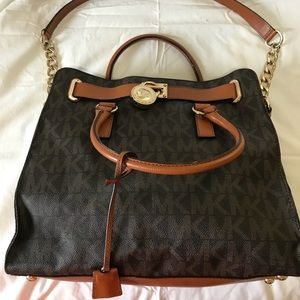 Michael Kors Hamilton Satchel Large Leather
